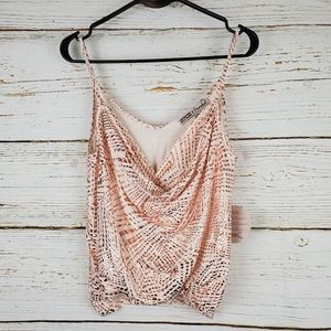 NWT Gypsies & Moondust Ivory & Rose Gold Tank Top